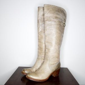 Frye Shoes - Frye Taupe 77594 jane tall cuff boots size 8.5